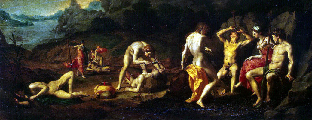 Agnolo Bronzino. Apollo and Marcia Racing