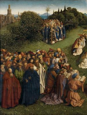 Jan van Eyck. Gents altar. Adoration of the Lamb (fragment)