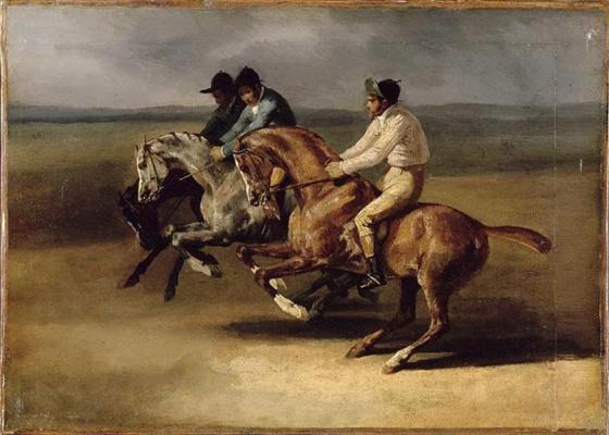 Théodore Géricault. Horse racing