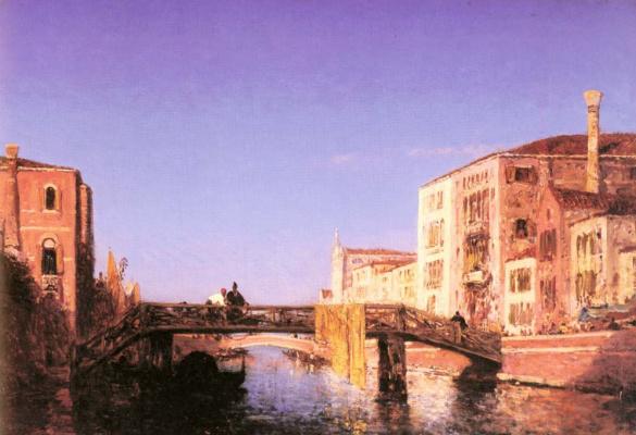 Феликс Зием. Деревянный мост в Венеции