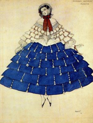 "Lev Samoilovich Bakst (Leon Bakst). Costume design for Schumann's ""Carnival"""