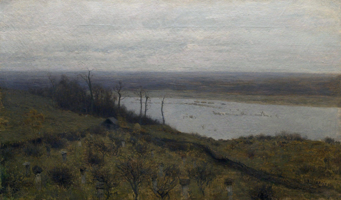 Isaac Levitan. The spill on the Sur