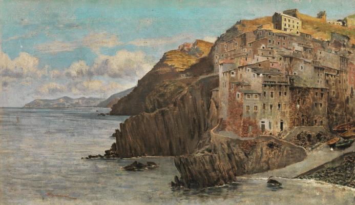 Telemaco Signorini. View of Riomaggiore