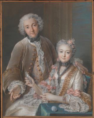 Charles-Antoine Coypel. Francois de Julien and his wife (Marie Elizabeth de Sor de Rie)