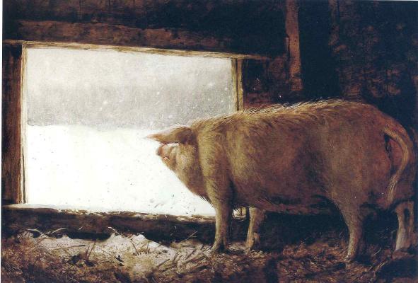 Jamie Wyeth. Winter