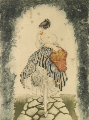 Icarus Louis France 1888 - 1950. Basket of apples. 1924