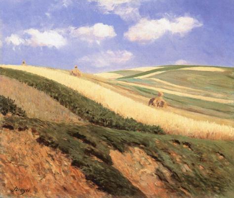Pál Szinyei Merse. In field