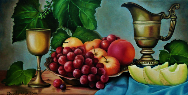 Natalia Viktorovna Tyuneva. Still life with fruits.