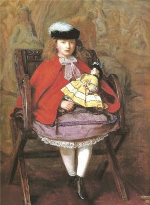 Джон Эверетт Милле. Девочка с куклой. Портрет Лилли, дочери Джона Ноубла