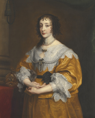 Anthony van Dyck. Portrait of Queen Henrietta Maria