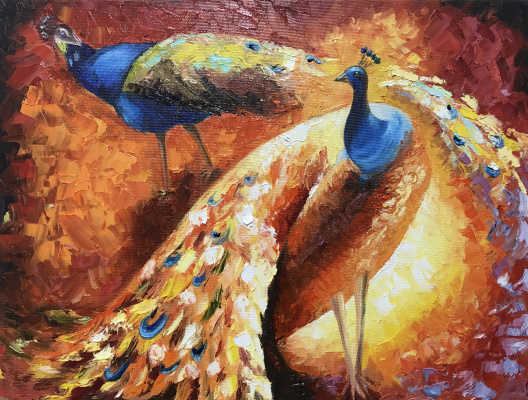 Svetlana Ivanova. Royal peacocks