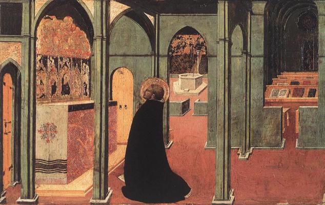 Сассетта. Св. Фома, вдохновленный святым духом