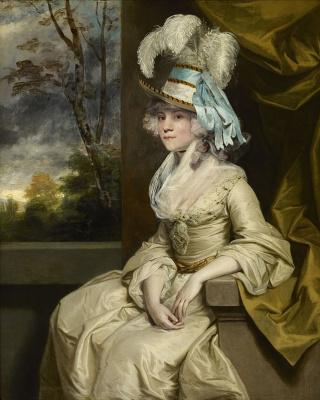 Joshua Reynolds. Portrait of lady Elizabeth Taylor