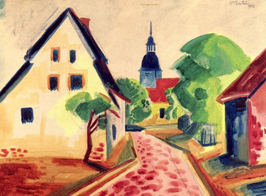 Max Pehshtein. Street with Church