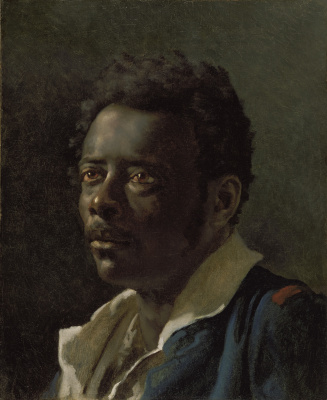 """Théodore Géricault. Portrait of a posing man. Sketch for the painting """"The Raft of Medusa"""""""