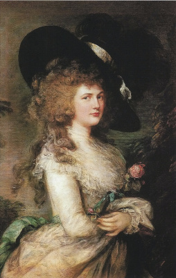 Thomas Gainsborough. Portrait Georgiana, Duchess of Devonshire