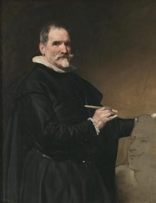 Diego Velazquez. Portrait of the sculptor Juan martínez Montañés