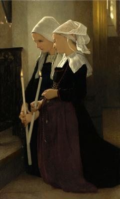 Вильям Адольф Бугро. Молитва в Сент-Анн-д'Оре