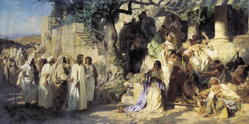 Генрих Ипполитович Семирадский. Christ and the sinner
