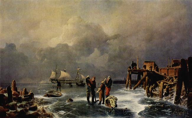 Andreas Achenbach. White sails
