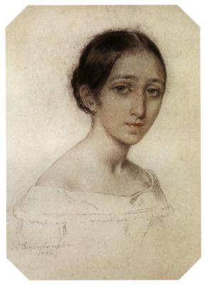 Alexey Gavrilovich Venetsianov. Portrait of a girl