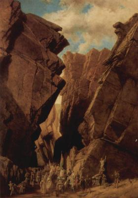 Адриян Доза. Горный проход, Алжир, 18 Октября 1839 г.