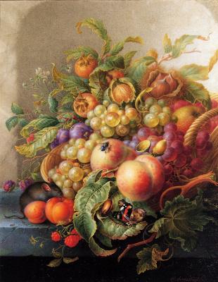 Герман Хенстенбургх. Натюрморт с фруктами