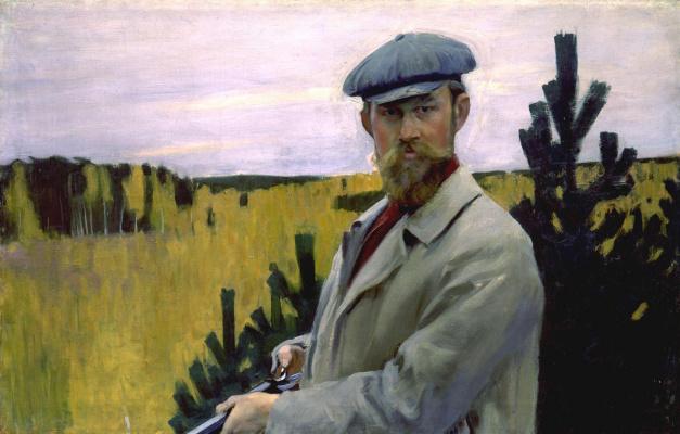 Борис Михайлович Кустодиев. Автопортрет (На охоте)
