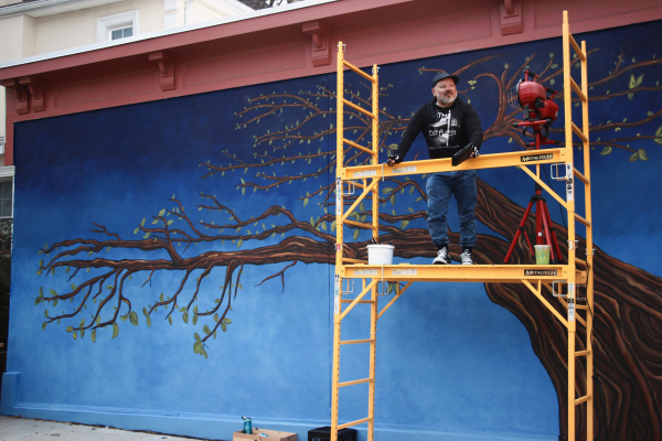 7ove Child. Mural/Street Art