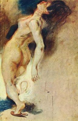 Eugene Delacroix. The death of Sardanapalus, etude