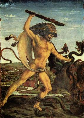 Antonio Pollaiolo. Hercules and the Hydra
