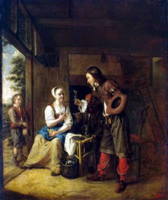 Pieter de Hooch. Servant and soldier