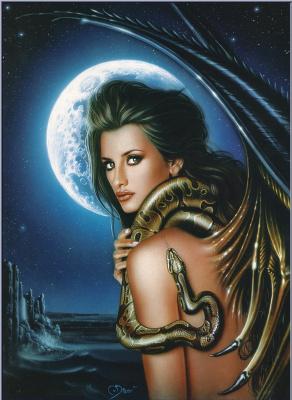 Карлос Диез Бустос. Пенелопа со змеей