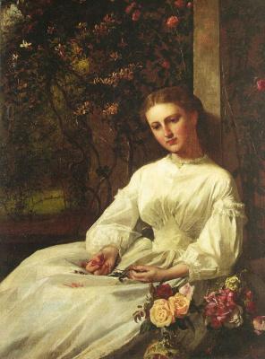 Джордж Кокран Ламбдин. Девушка в белом платье