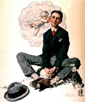 Norman Rockwell. A Message From Cupid