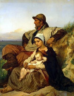 Луи Галле. Семья рыбака