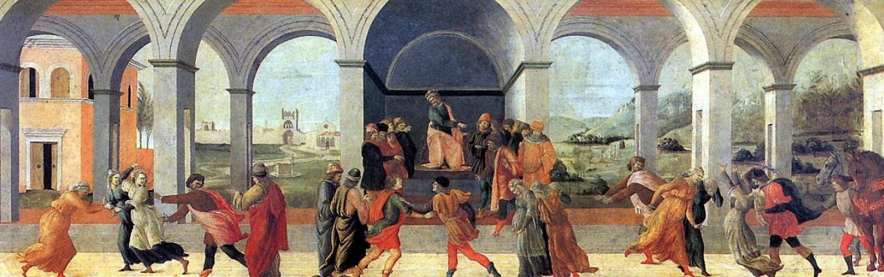 Filippino Lippi. Three scenes from the Story of Virginia