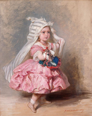 Franz Xaver Winterhalter. Princess Beatrice, later Princess Henry of Battenberg