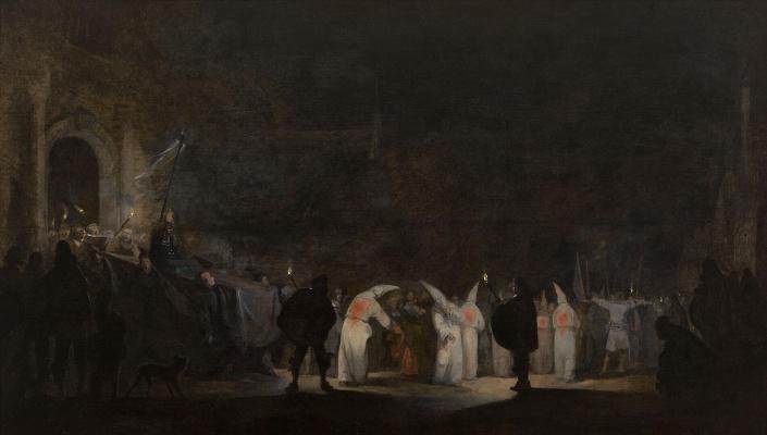 Gerard Terborch (ter Borch). Procession of Flagellants