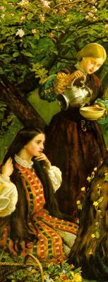 John Everett Millais. Blooming Apple trees (Spring). Fragment II