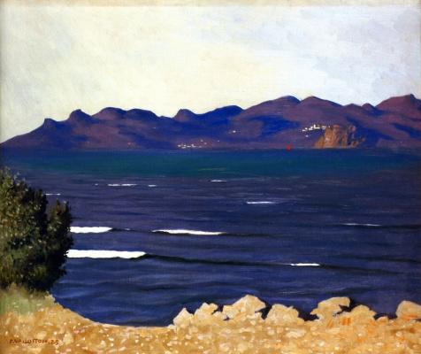 Felix Vallotton. The Esterel and the Bay of Cannes