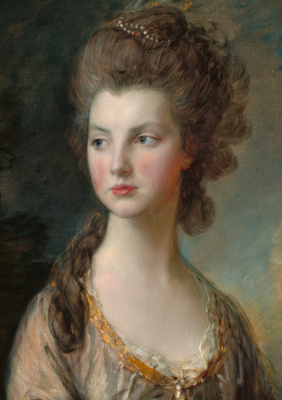 Thomas Gainsborough. The honourable Mrs Thomas Graham. Fragment