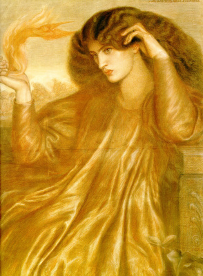 Dante Gabriel Rossetti. The Lady of the Flame