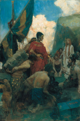 Howard Pyle. Phoenician merchants