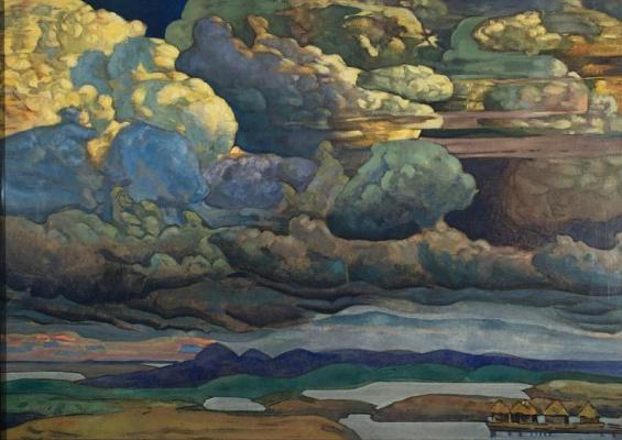 Nicholas Roerich. Heavenly battle