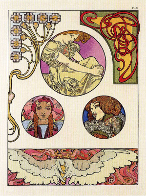 Alfons Mucha. Decorative papers