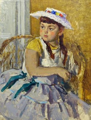Sergey Vasilyevich Gerasimov. Portrait of a girl