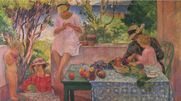 Henri Lebasque. Lunch on the terrace
