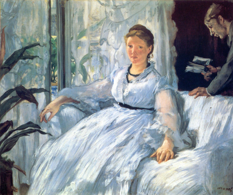 Edouard Manet. Reading (Mme Manet)