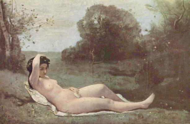 Camille Corot. Girl in green